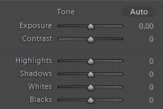 exposure and contrast settings