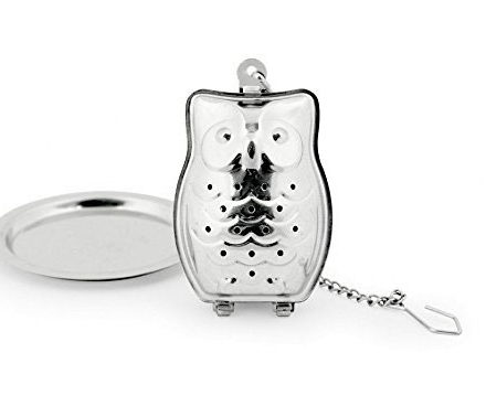 bird lover gift ideas owl tea infuser