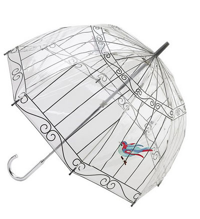 bird lover gift ideas birdcage umbrella