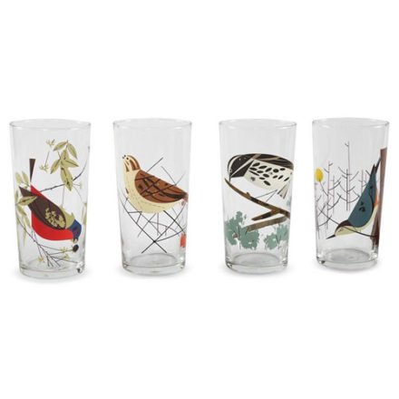 bird lover gift ideas charley harper glasses
