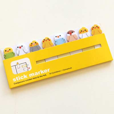 bird sticky note markers