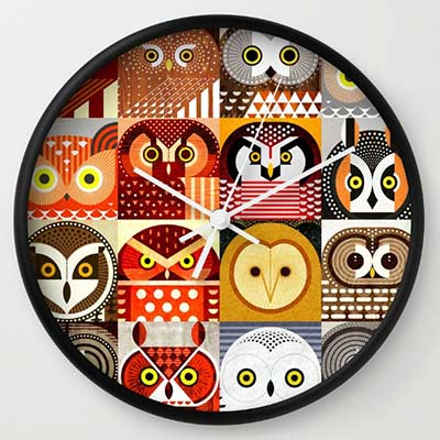 cool owl clock