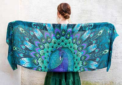 peacock-bird-scarf