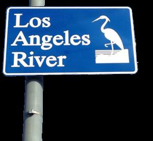 LA river sign