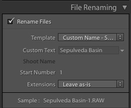 lightroom file renaming