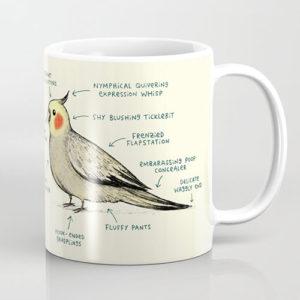 anatomy of a cockatiel mug