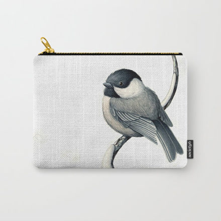 black capped chickadee clutch