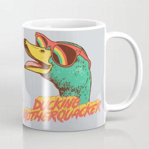 ducking motherquacker duck coffee mug